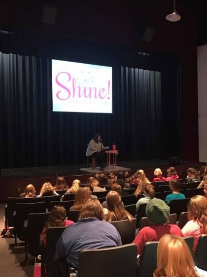 The girls hear a testimony from a fellow God's Girl